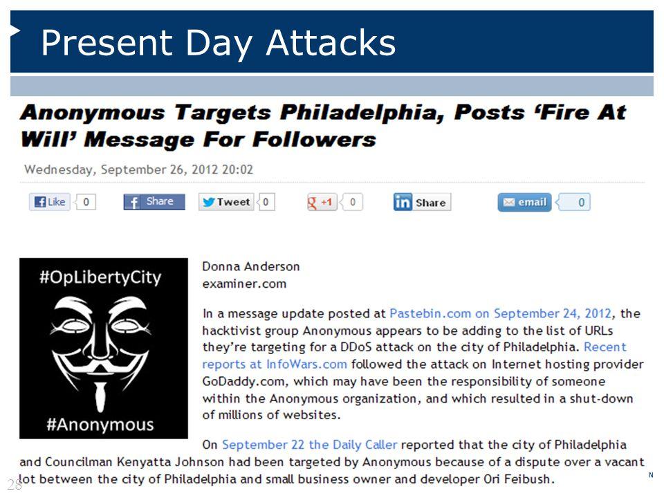 Present Day Attacks 28