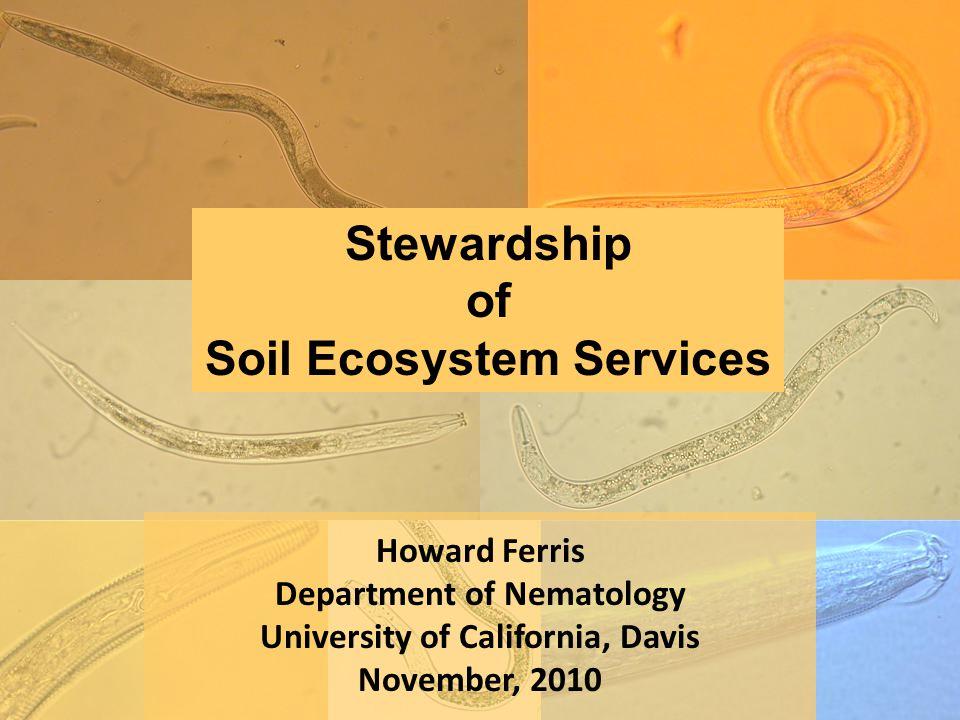 Howard Ferris Department of Nematology University of California, Davis November, 2010 Stewardship of Soil Ecosystem Services
