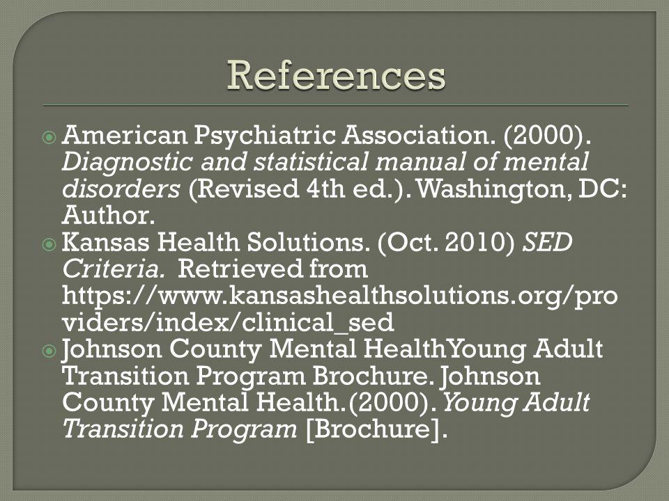 American Psychiatric Association. (2000).