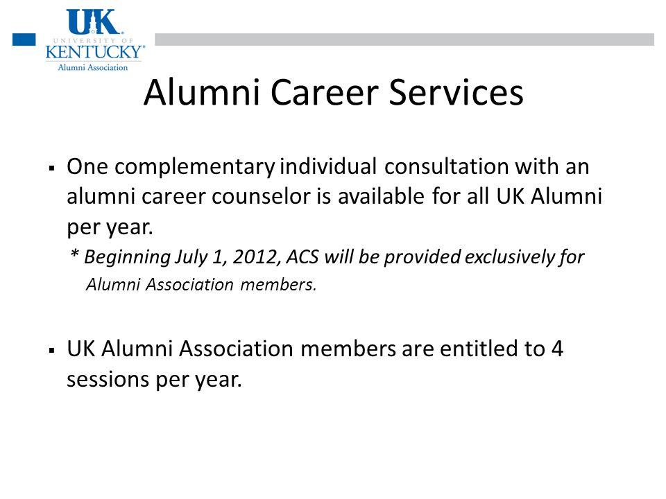 Association Member Benefit Alumni Career Services is a great UK Alumni Association member benefit.