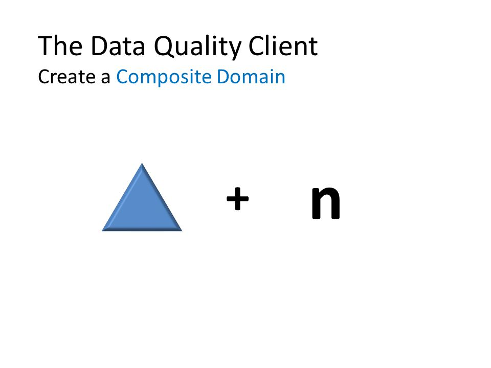 The Data Quality Client Create a Composite Domain + n