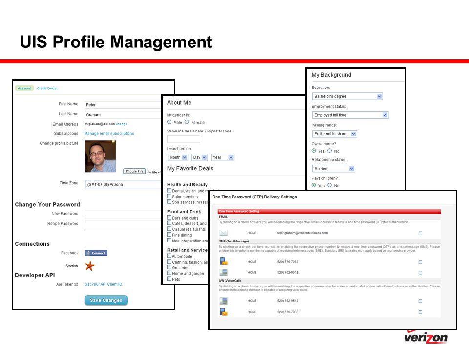 UIS Profile Management