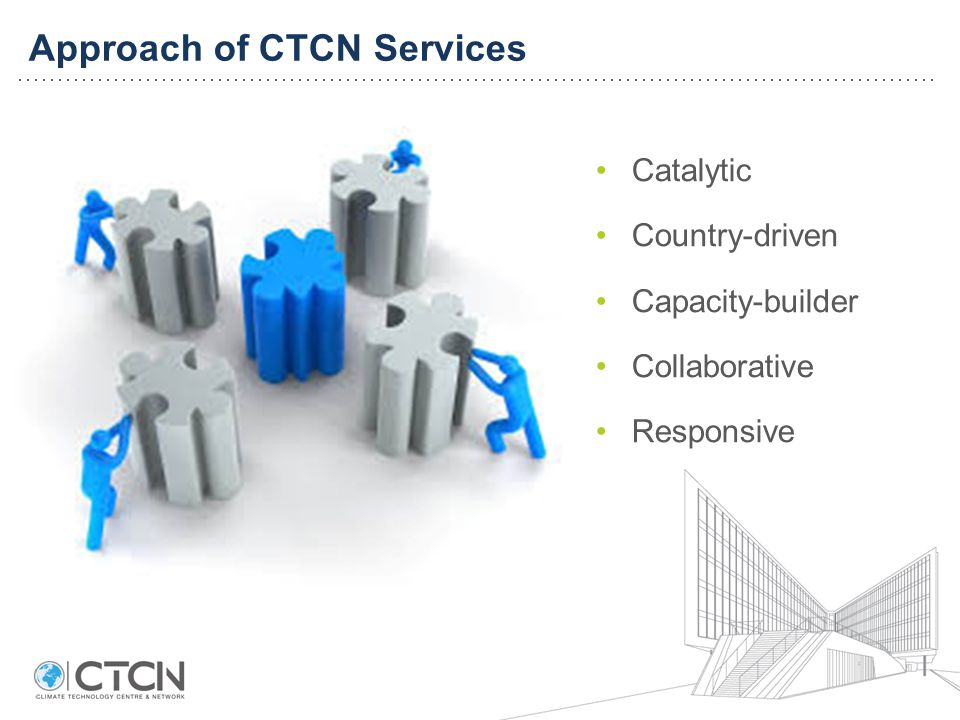 Approach of CTCN Services Catalytic Country-driven Capacity-builder Collaborative Responsive