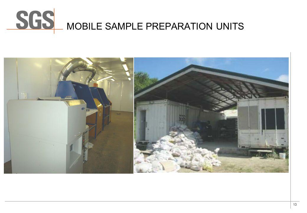 13 MOBILE SAMPLE PREPARATION UNITS