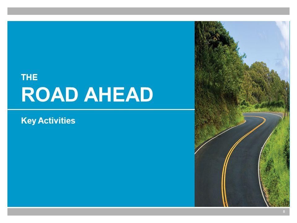 8 THE ROAD AHEAD Key Activities