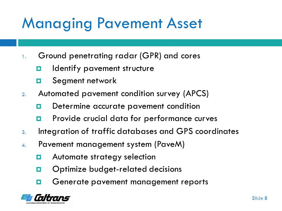 Managing Pavement Asset 1.