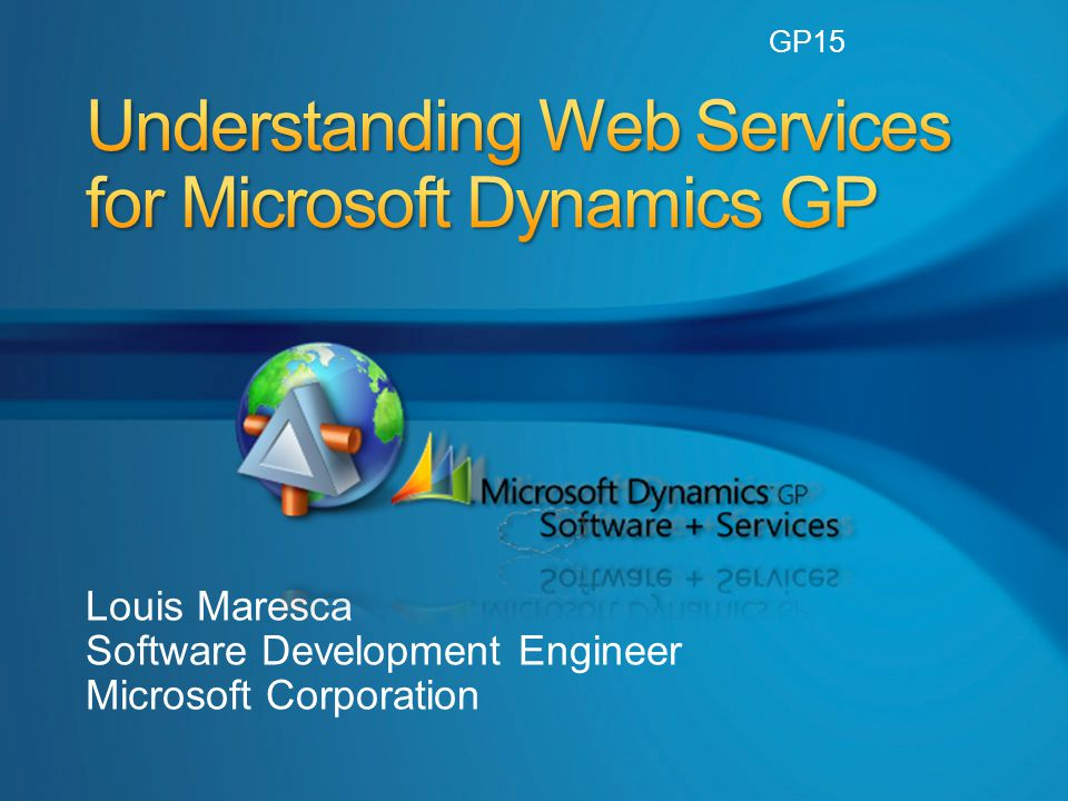 Louis Maresca Software Development Engineer Microsoft Corporation GP15