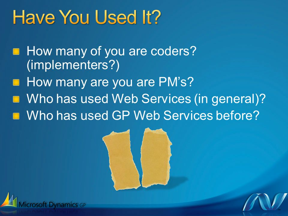 How many of you are coders. (implementers?) How many are you are PMs.