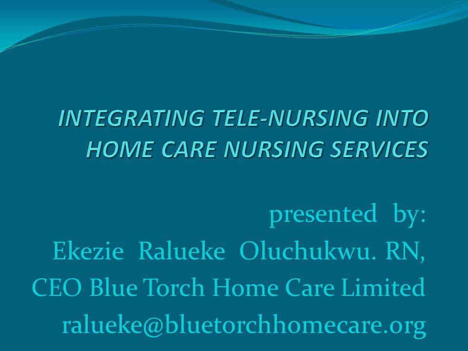 Abstract Tele-health integration into home care Nursing is a revealing mirror in the health care system, producing the image visibility, stability, sustainability with importance of Information and Communication Technology (ICT) in Home Care Nursing Practices and health care system at large.