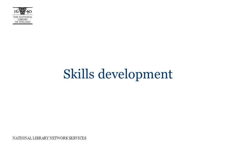 NATIONAL LIBRARY NETWORK SERVICES Skills development