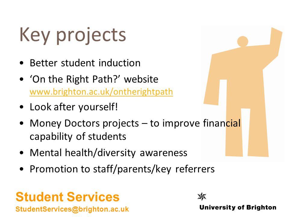Key projects Better student induction On the Right Path.