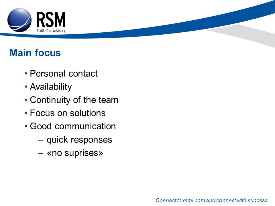 Connect to rsmi.com and connect with success Eystein O.