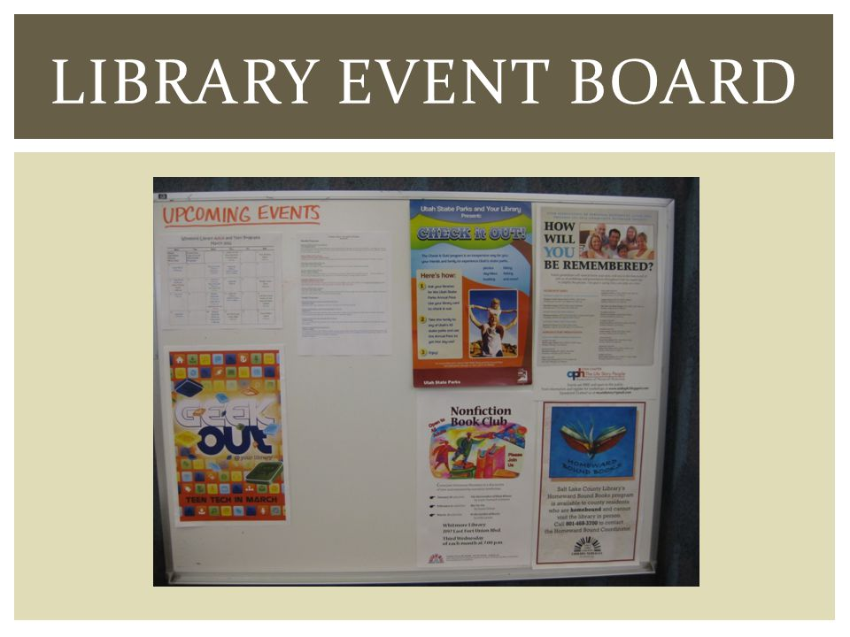 LIBRARY EVENT BOARD