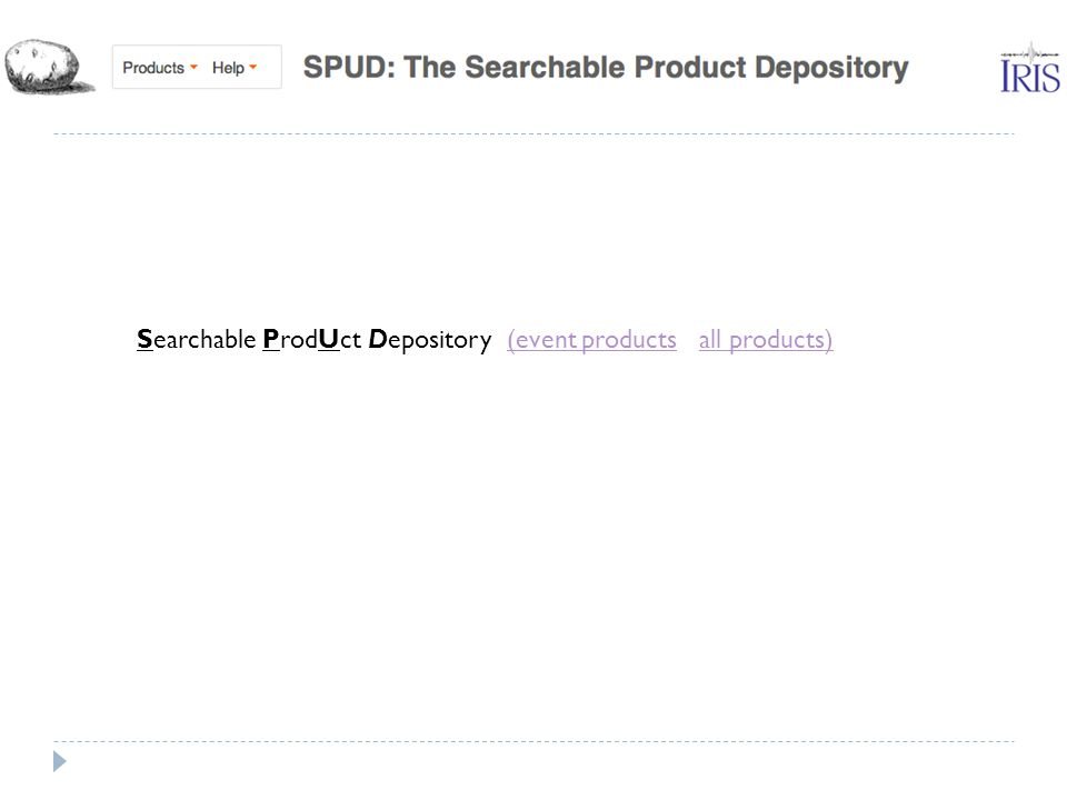 Searchable ProdUct Depository (event products all products)(event productsall products)