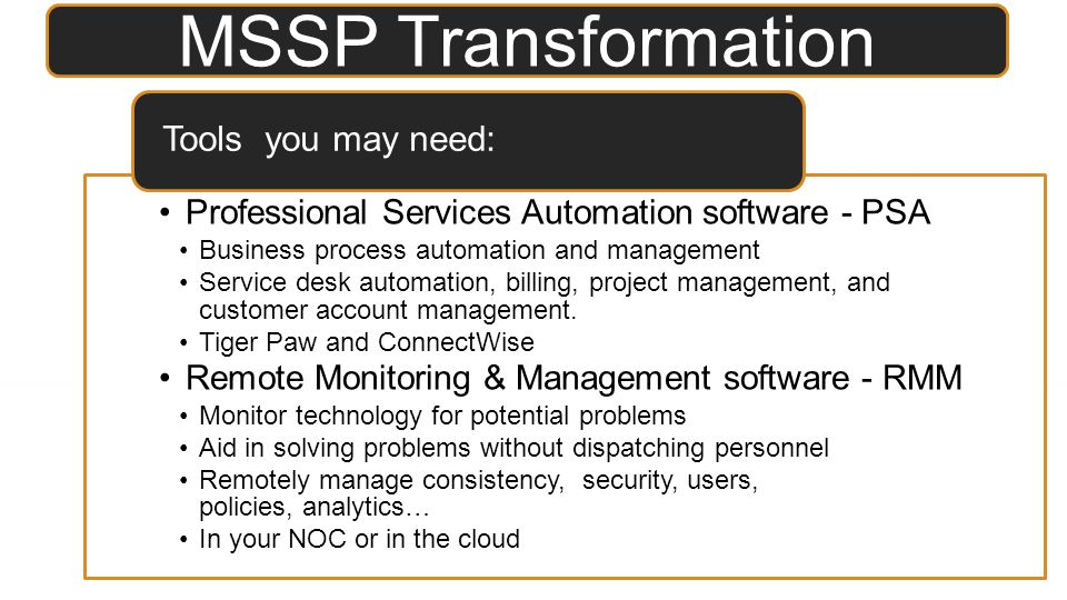 Professional Services Automation software - PSA Business process automation and management Service desk automation, billing, project management, and c