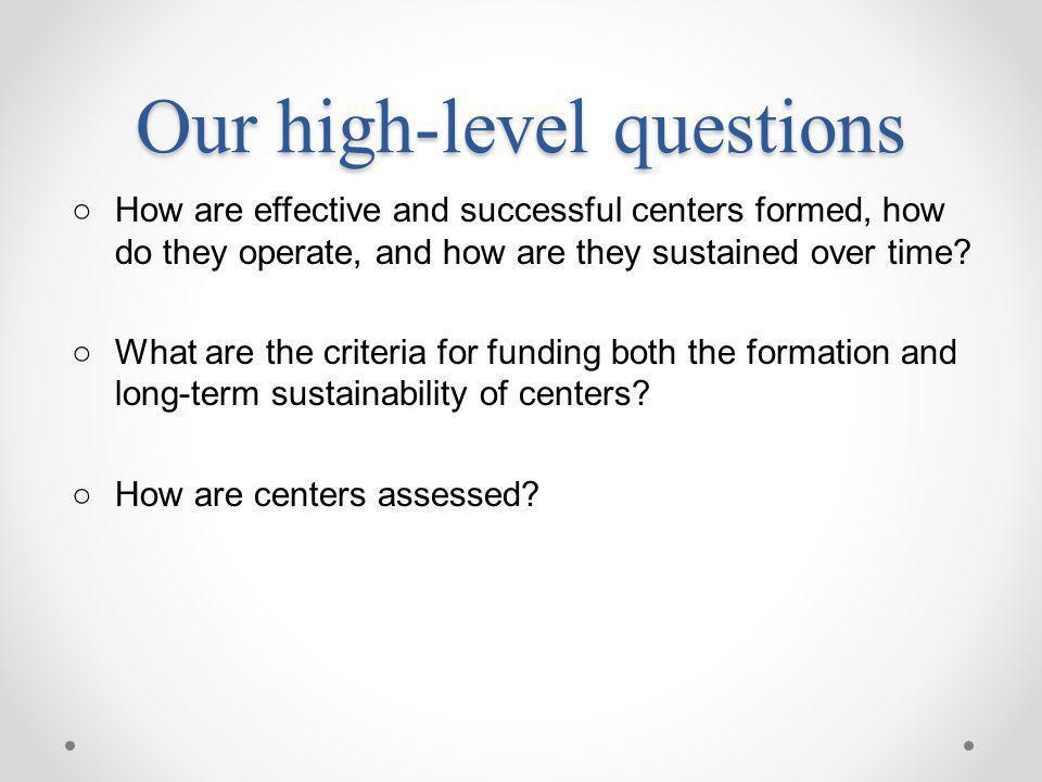 Semi-Structured Interviews Hewlett Foundation IMLS Mellon Foundation NEH NSF Rockefeller Foundation Sloan Foundation