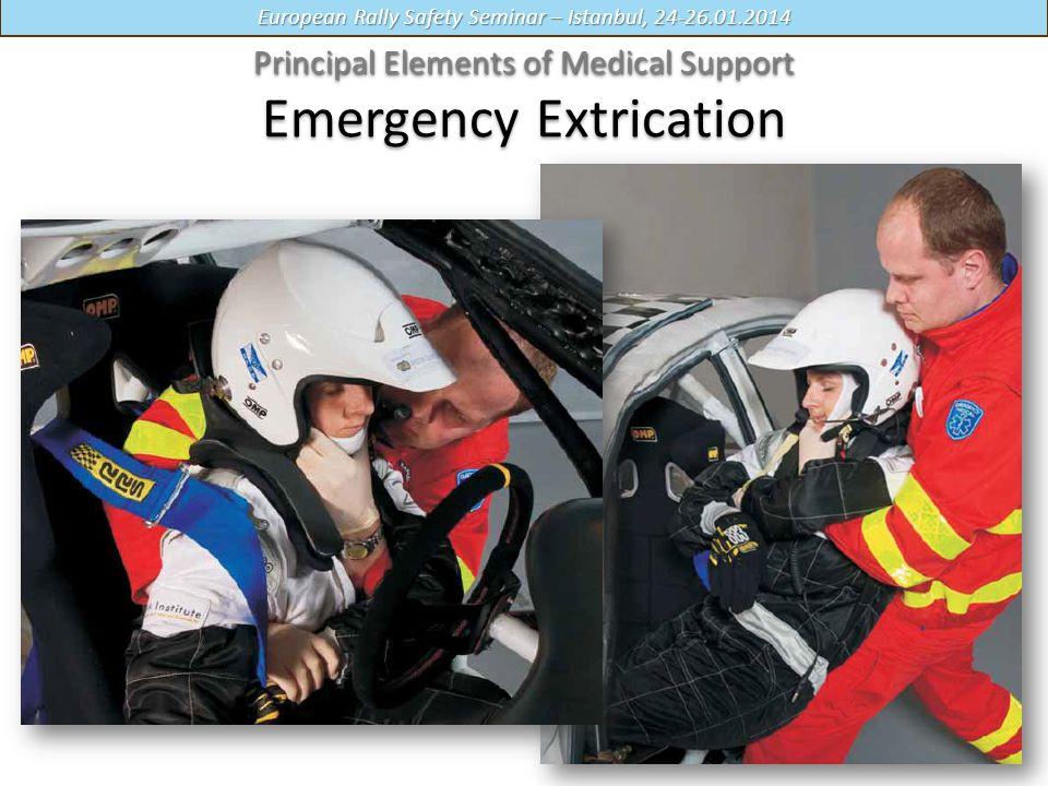 European Rally Safety Seminar – Istanbul, 24-26.01.2014 Principal Elements of Medical Support Principal Elements of Medical Support Emergency Extrication