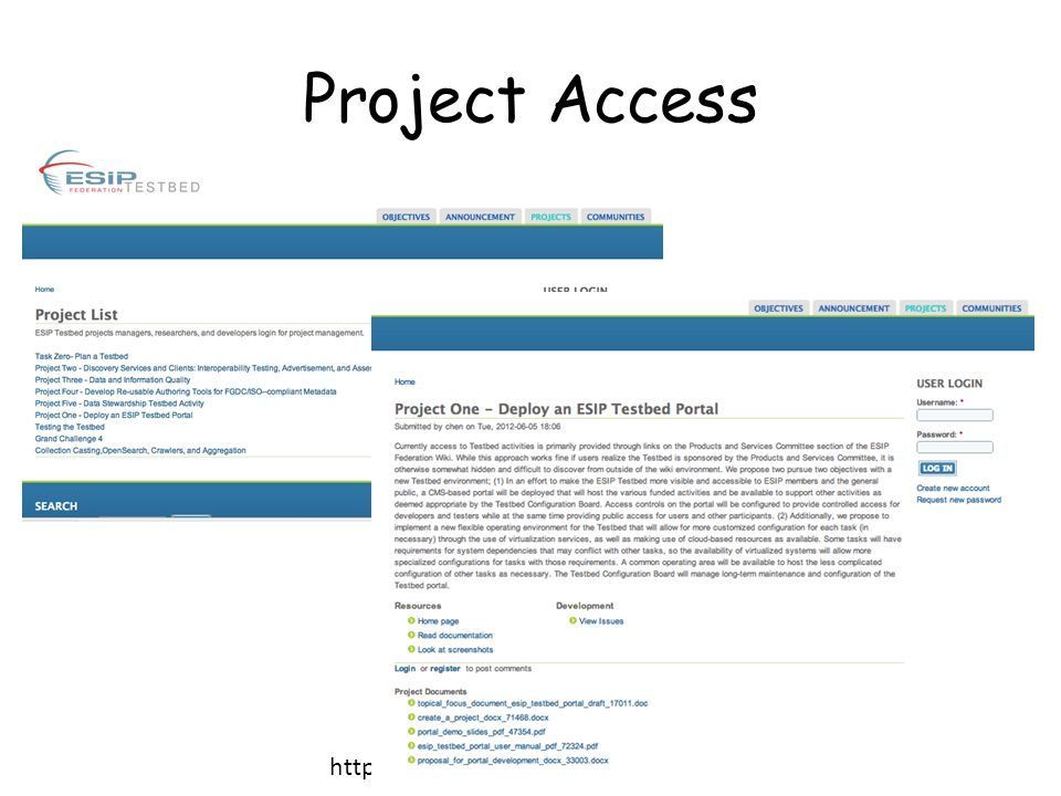 Project Access http://swp.gmu.edu/esiptestbed/