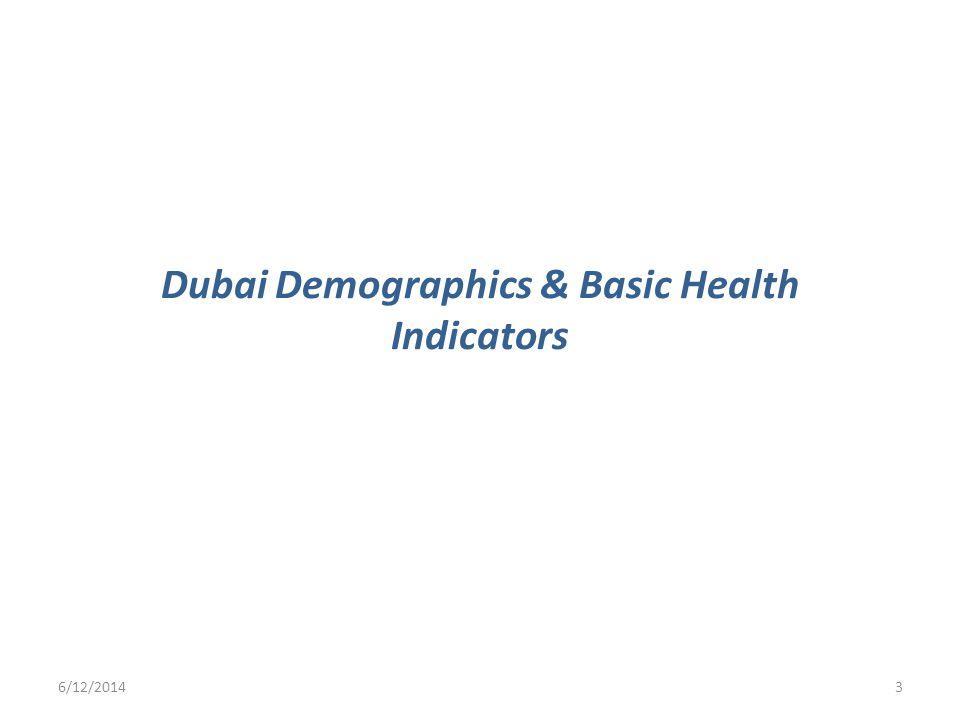 Dubai Demographics & Basic Health Indicators 6/12/20143
