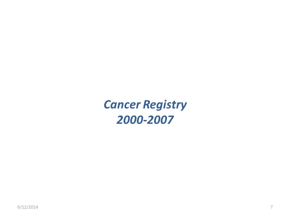Cancer Registry /12/20147