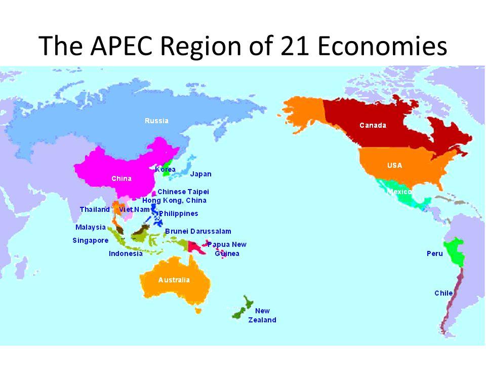 The APEC Region of 21 Economies