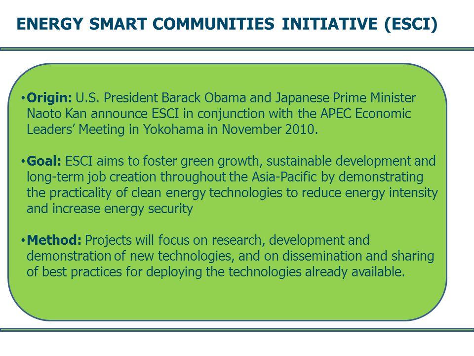 ENERGY SMART COMMUNITIES INITIATIVE (ESCI) -- Page 3 -- Origin: U.S.