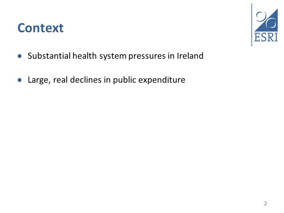 Total public health expenditure 2000-2013 Sources: Department of Public Expenditure and Reform; CSO
