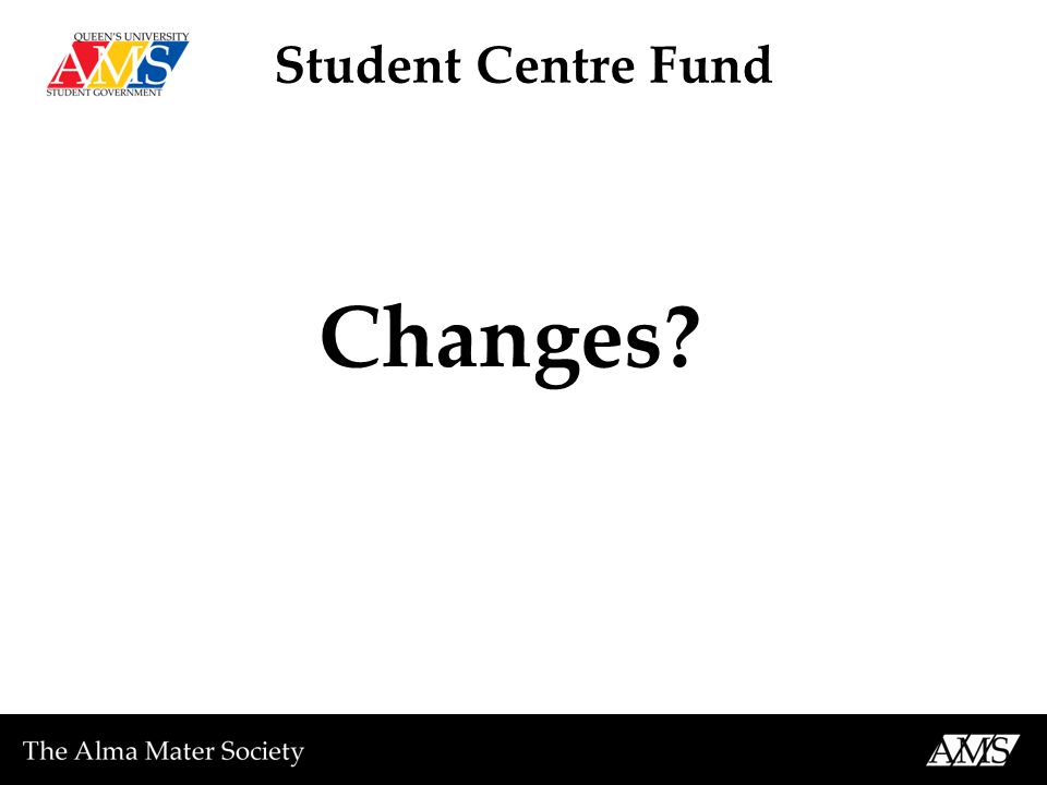 Student Centre Fund Changes?