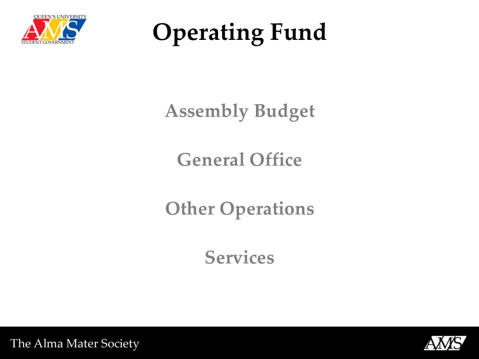 Operating Fund Assembly Budget General Office Other Operations Services