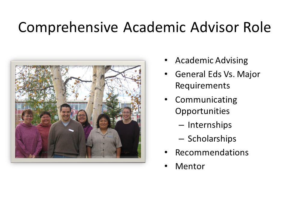 Comprehensive Academic Advisor Role Academic Advising General Eds Vs.