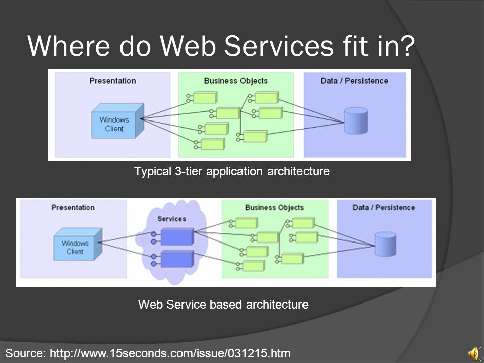 Where do Web Services fit in.