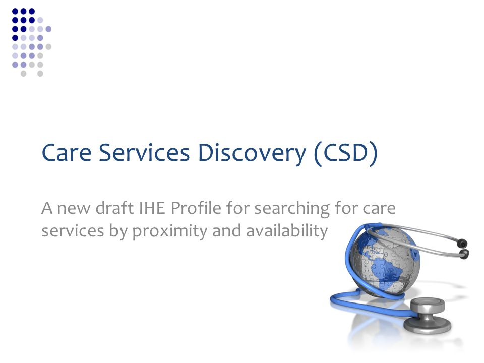 CSD ConsumerCSD ManagerCSD Directory CSD FreeBusy iCalendar *optional Exploring how ServD and HPD are leveraged.