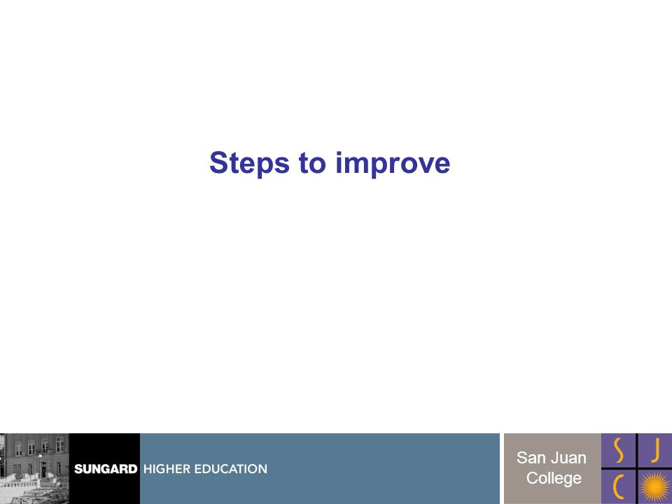 18 San Juan College Steps to improve