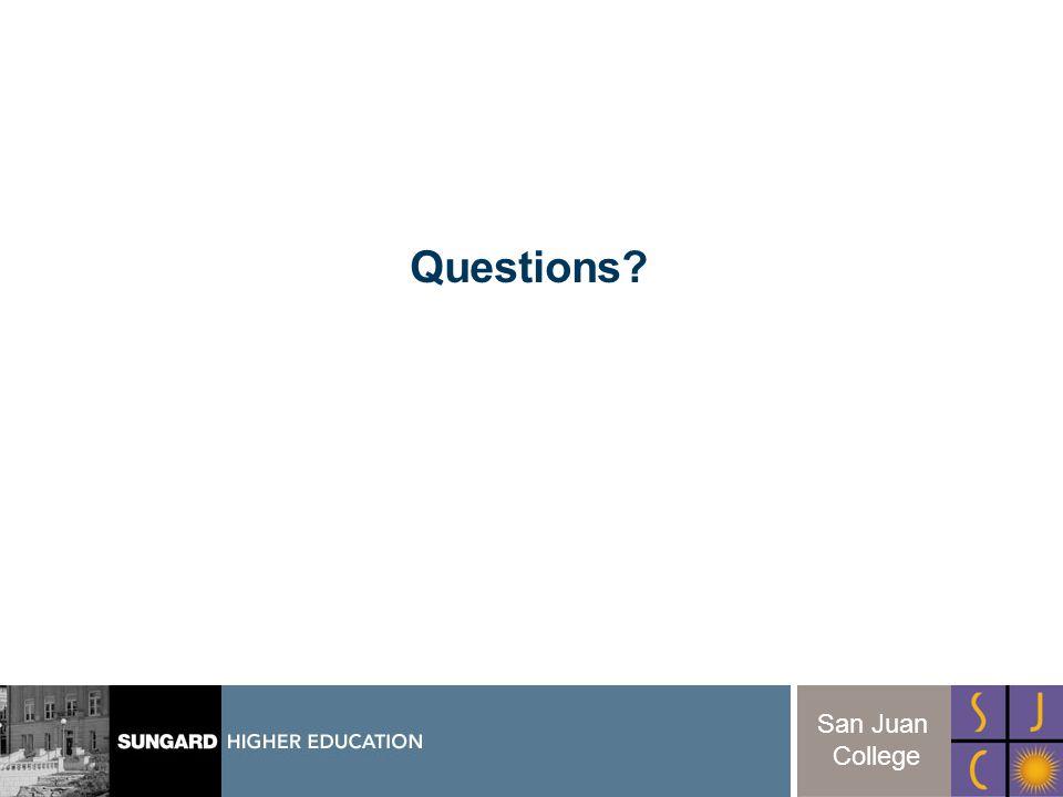 30 San Juan College Questions