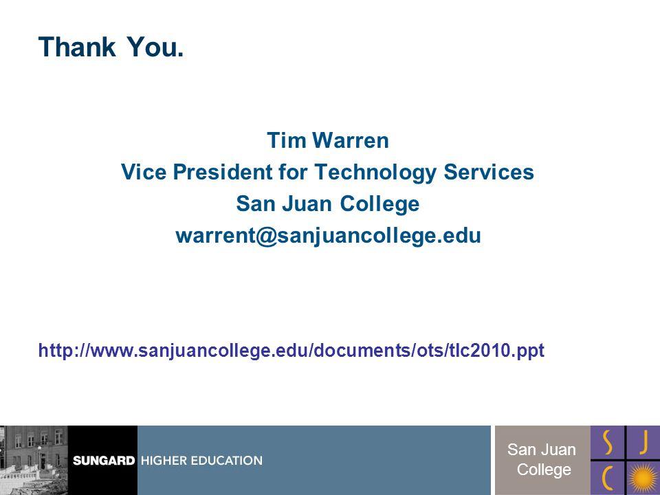 31 San Juan College Thank You.