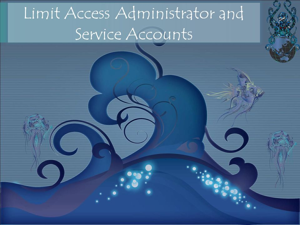 Limit Access Administrator and Service Accounts