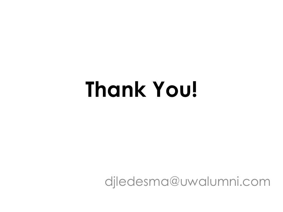 Thank You! djledesma@uwalumni.com
