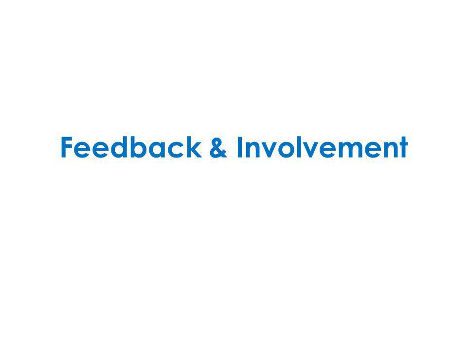 Feedback & Involvement