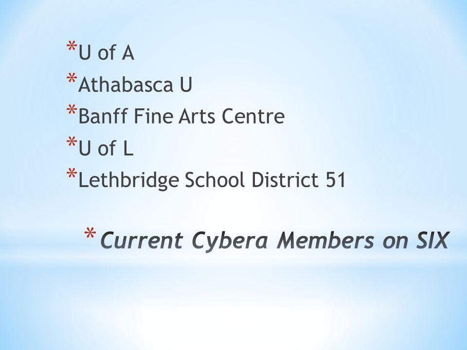 * U of A * Athabasca U * Banff Fine Arts Centre * U of L * Lethbridge School District 51