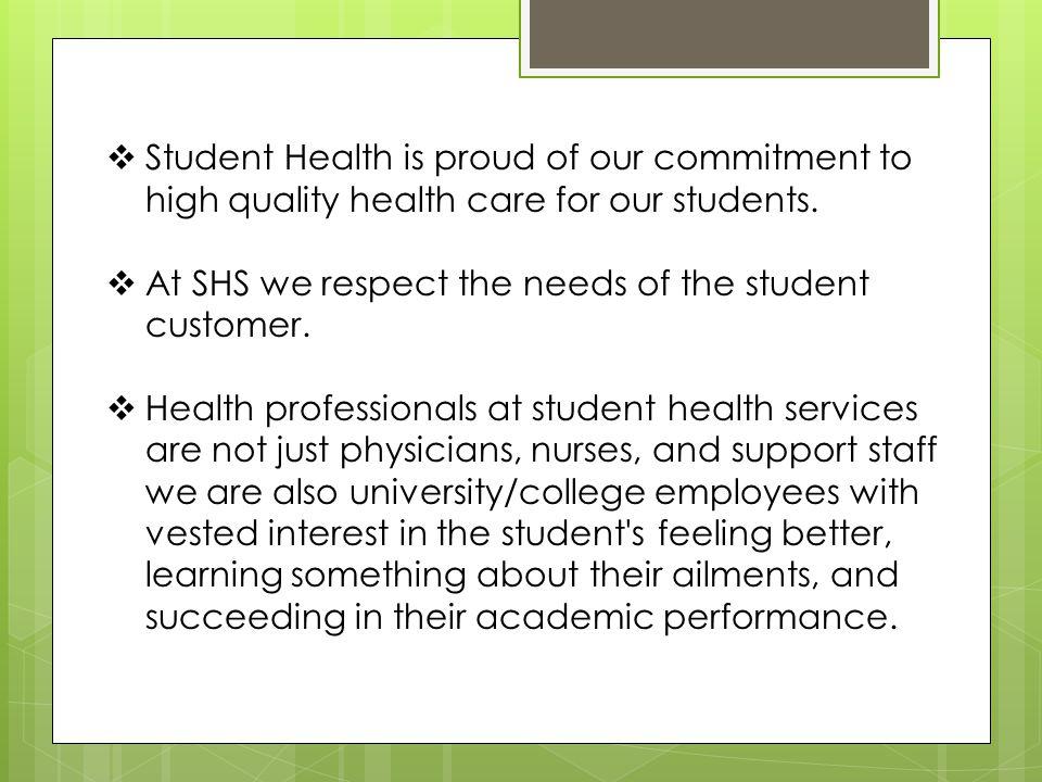 SHS Services General Medicine Primary health care.
