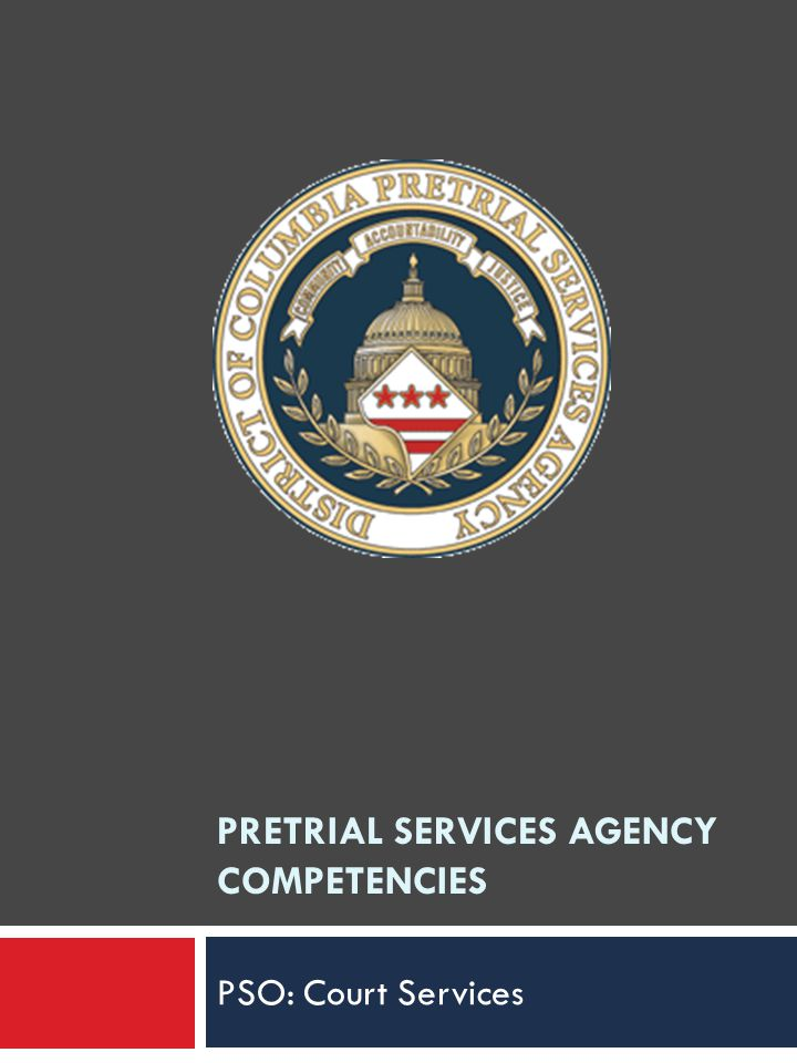 PRETRIAL SERVICES AGENCY COMPETENCIES PSO: Court Services