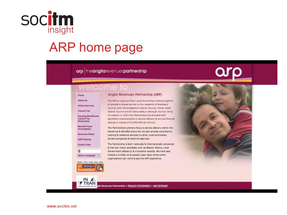 www.socitm.net ARP home page