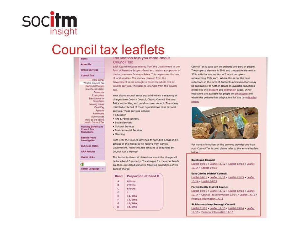 Council tax leaflets