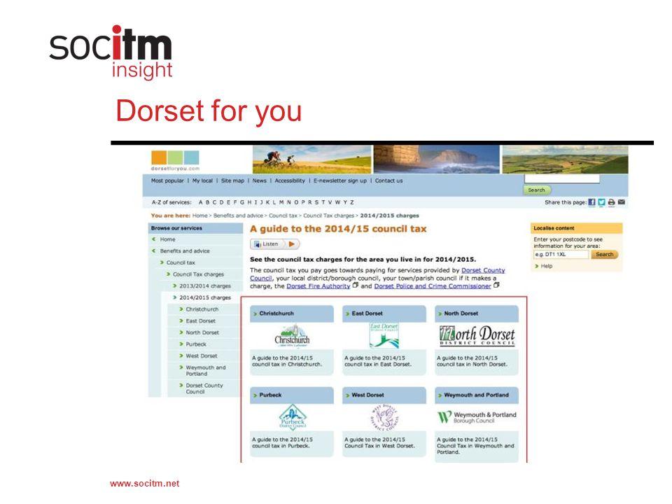 www.socitm.net Dorset for you