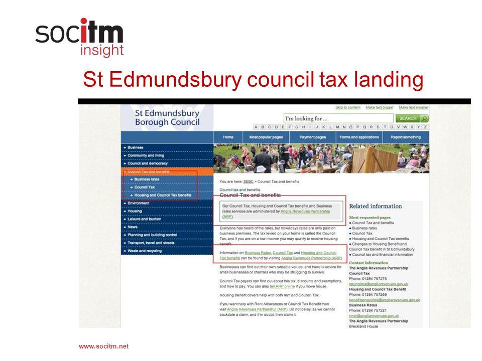 www.socitm.net St Edmundsbury council tax landing