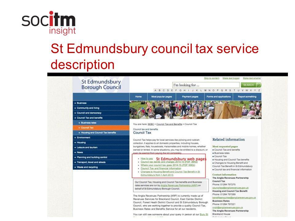 www.socitm.net St Edmundsbury council tax service description