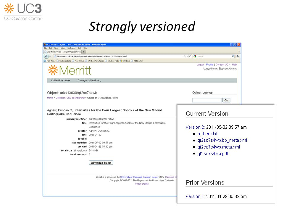Strongly versioned