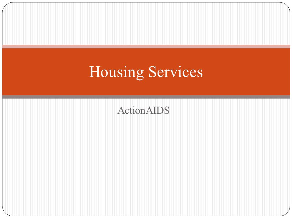ActionAIDS Housing Services