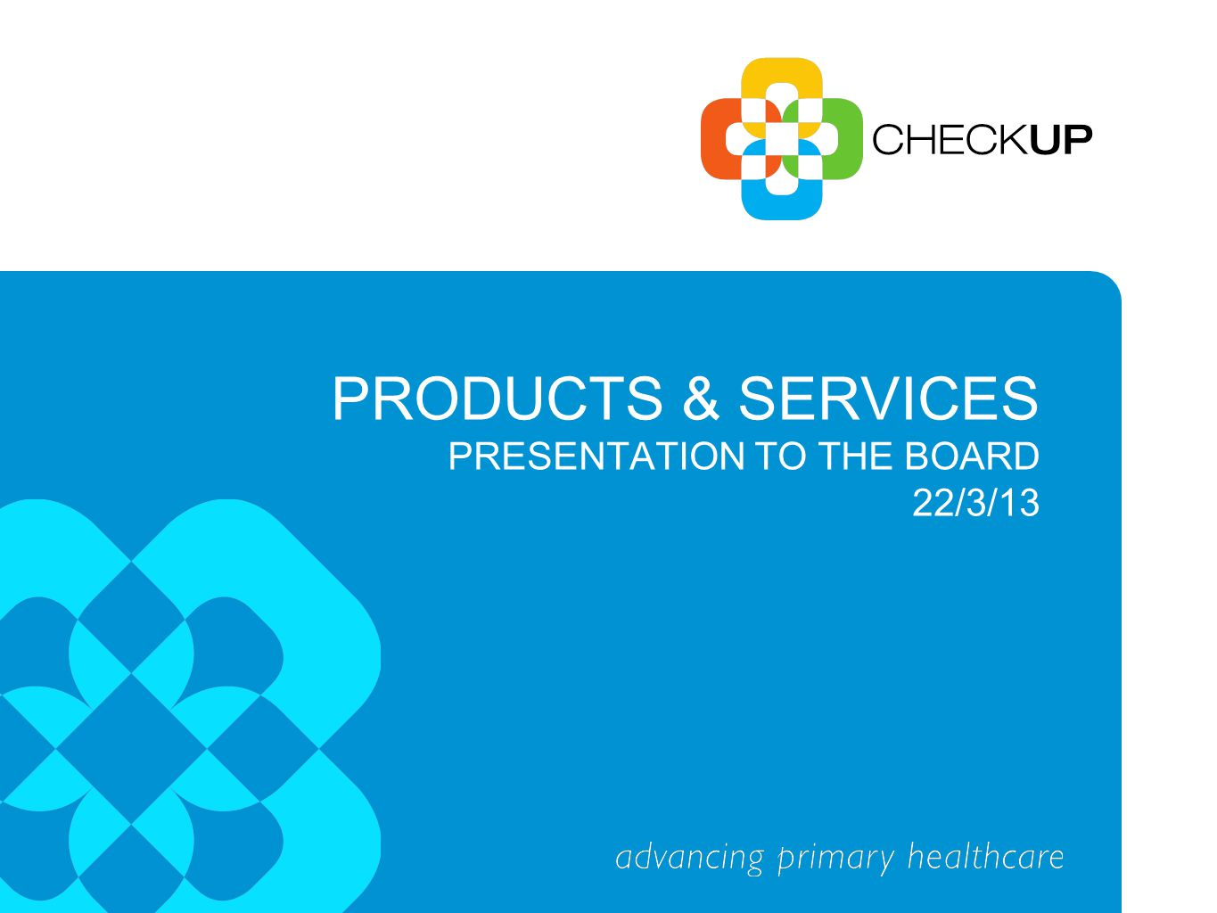 CheckUP TRAINING Business Model - Vocational Education and Training (VET) - Short courses and information sessions - Resource development - Credentialing