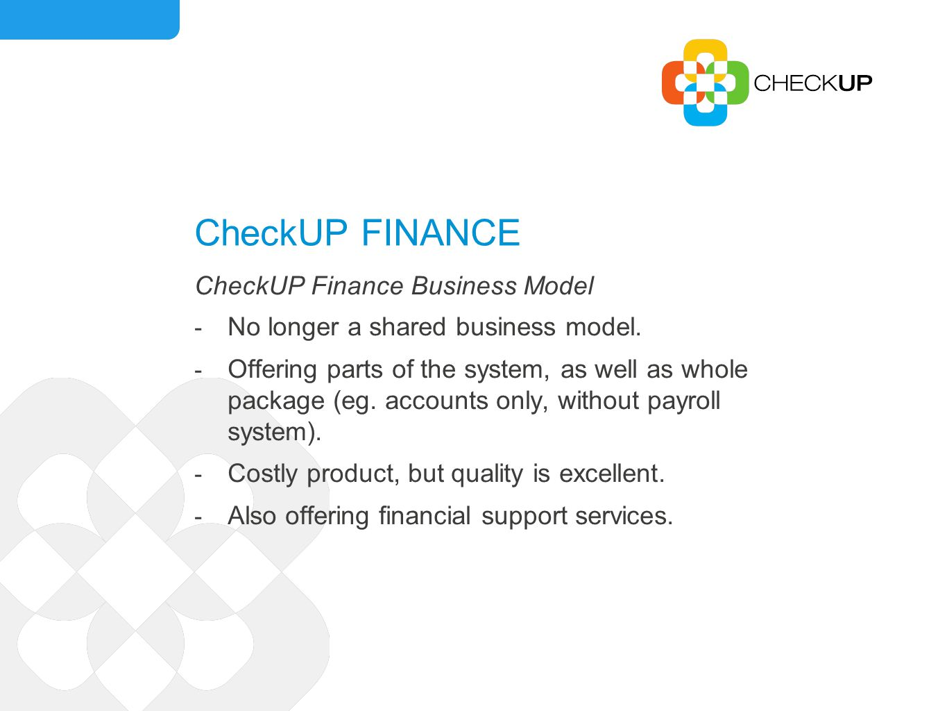 CheckUP DIRECTORY Strategy Determine advertising fees and secure advertisers.